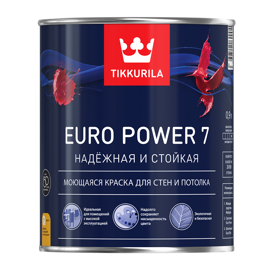 ТИККУРИЛА ЕВРО ПАУЭР 7 A (TIKKURILA EURO POWER 7 A)
